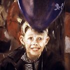 Boy with Balloon by Sylvia Karall
