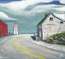 Around the Bend- Halls Harbour NS by kevincameronart