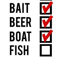 Fishing Check Off List Mens by mralan