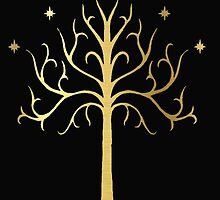 golden tree of Gondor by Audrey Metcalf