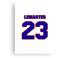 National baseball player Denny Lemaster jersey 23 Canvas Print