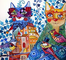 Venice cats by oxana zaika