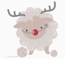 sheep knitting crochet yarn balls reindeer costume Kids Clothes