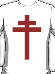 cross of Lorraine - Knights Templar - Holy Grail - Joan of Arch - The Crusades T-Shirt