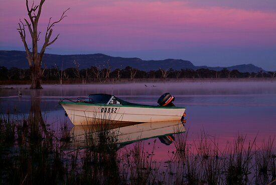 Mauve Tones, Lake Fyans by Joe Mortelliti