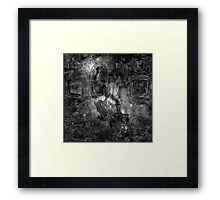 When The Stars Are Right - M78 in Orion (black & white version) Framed Print