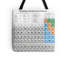 Mendeleev's Periodic Table of Elements Tote Bag