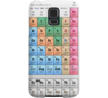 Mendeleev's Periodic Table of Elements Samsung Galaxy Case/Skin