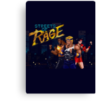 Streets of Rage T-shirt Canvas Print