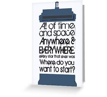 Where do you want to start? Greeting Card