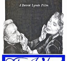 BLUE VELVET hand drawn movie poster in pencil by theexiledelite