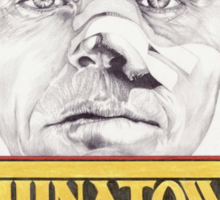CHINATOWN hand drawn alternative movie poster in pencil. Sticker