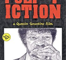 PULP FICTION hand drawn movie poster in pencil by theexiledelite