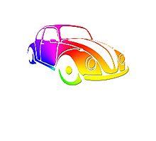 VW Bug hippie tie dye Photographic Print