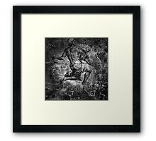 When The Stars Are Right - The Helix Nebula In Aquarius (black & white version) Framed Print
