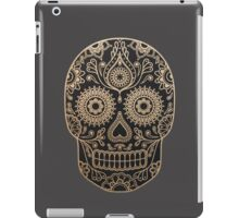 Black and Gold Sugar Skull iPad Case/Skin
