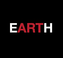 eARTh Design (Black Background) by canossagraphics