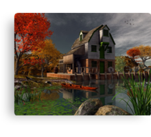The Old Mill House Canvas Print