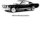 1966 Ford Mustang Fastback (with text) by garts