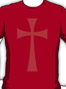 Long Cross - Knights Templar - Holy Grail - The Crusades T-Shirt