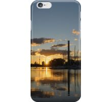 Fire in the Sky - Skyscrapers and the Beaches Marina iPhone Case/Skin
