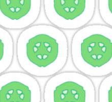 Green Cucumber Slices Sticker