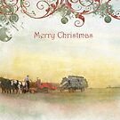 "Amish Scene ""Merry Christmas"" ~ Greeting Card by Susan Werby"