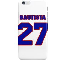 National baseball player Denny Bautista jersey 27 iPhone Case/Skin