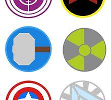 Avengers symbols by Oona Oceana