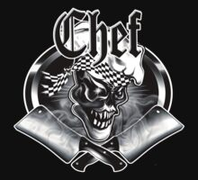 Chef Skull and Crossed Smoking Cleavers 5 by sdesiata