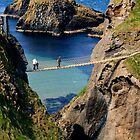 Rope Bridge, Giant's Causeway, Northern Ireland, UK by Lenarick
