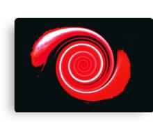 Red Twist Canvas Print