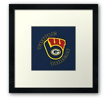 WinSconsin Triple Threat Framed Print
