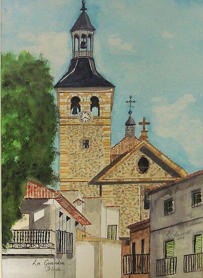 Watercolour , Toledo Spain . by Irene  Burdell