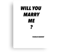 Manson Married #2 Canvas Print