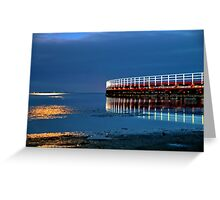 Reflections on Corio Bay. Greeting Card