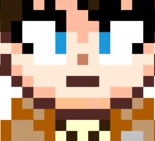 Attack on Titan - Eren Jaeger Pixel Sprite - Chibi Sticker