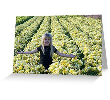 Outstanding In Her Field Greeting Card