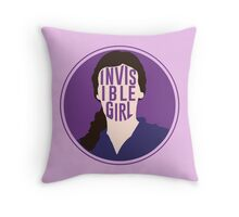 Invisible Girl Throw Pillow