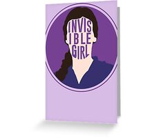 Invisible Girl Greeting Card