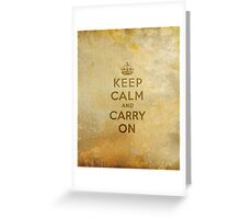 Keep Calm and Carry One Old Vintage Background Greeting Card