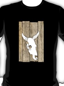 Cow Skull hanging on the Barn T-Shirt