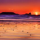 Gower Sunset I by Alex Clark