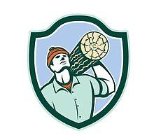 Logger Forester Carry Log Shield Retro by patrimonio