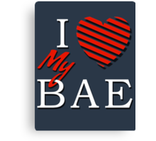 I Love (Heart) My Bae Canvas Print