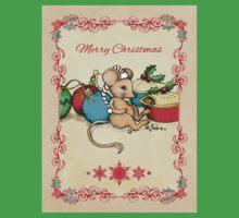 Love, Joy, PIE! Merry Christmas! Cute mouse illustration Kids Clothes