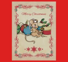 Love, Joy, PIE! Merry Christmas! Cute mouse illustration Kids Clothes