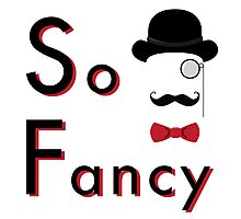 Lord Fancy is So Fancy - White Version Photographic Print