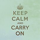 Keep Calm and Carry One Grunge Backround by houk