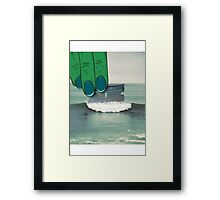 waves of cocaine Framed Print
